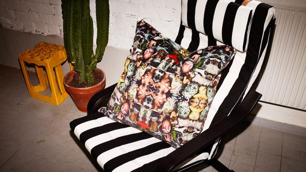 """Produkterna som kallas både """"fula"""", """"fina"""" och """"helt förtjusande för hemmet"""" samt """"familjära och egendomliga på samma gång"""" består av prydnadsföremål, inredningsdetaljer och mönstrade textilier."""