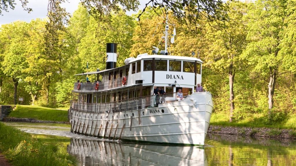 Det blir inga kryssningar med Diana på Göta kanal i år.