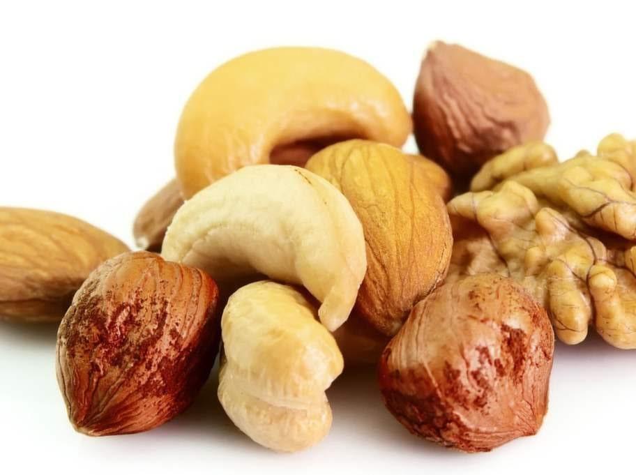 Nötter och mandel.