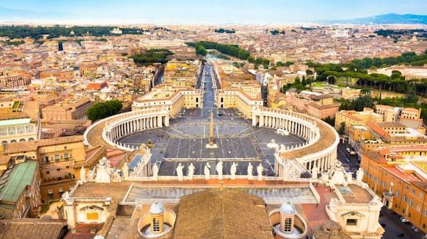 Makalös utsikt över Vatikanen