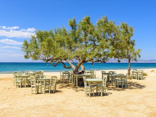 Naxos är den största ön i Kykladerna. Här Plaka.