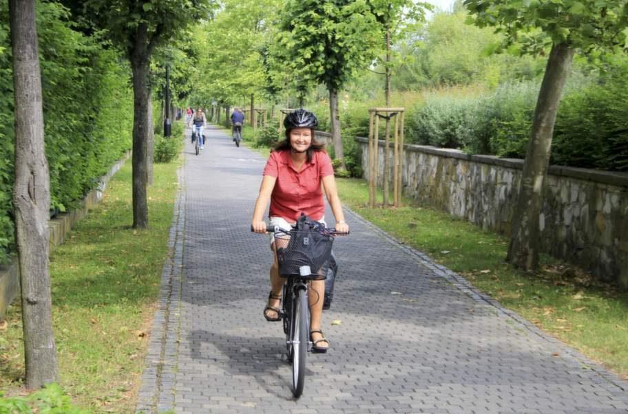Fin cykelväg i Sopot.