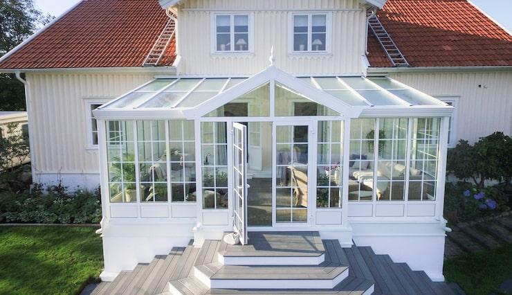 Vinterisolerat med stomme i underhållsfri aluminium från Vansta trädgård.