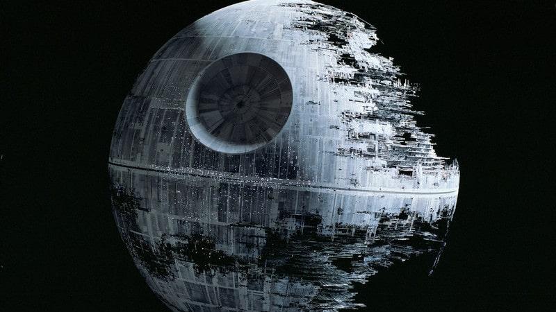 """Så här ser den ut på riktigt, dödsstjärnan från filmen """"Star Wars""""."""