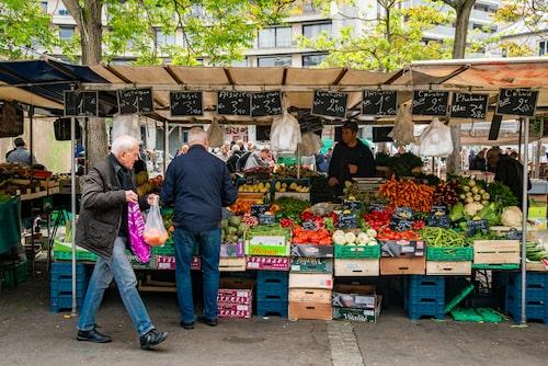 Marché d'Aligre Beuvais – bondens marknad.