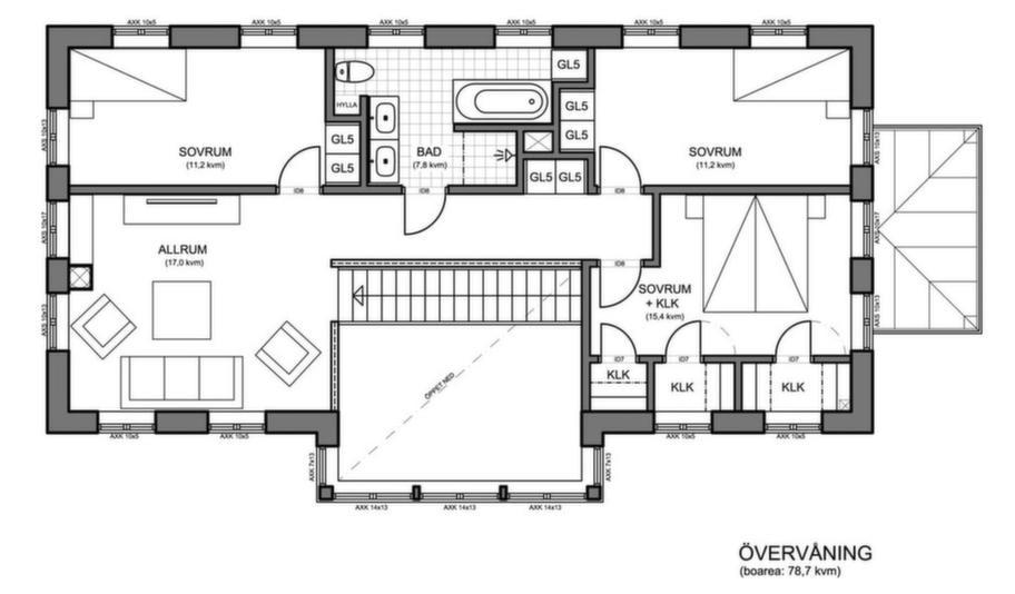 Fakta<br>Namn: Nordiska hus 3.4<br>Typ: 2-planshus med sju rum och kök på 173,7 kvadratmeter.<br>Pris:  3 480 000 kronor. 20 034 kronor kvadratmetern.<br>Husföretag: Nordiska hus nordiskahus.com