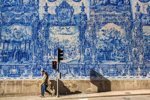 Det blå kaklet i Porto.