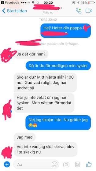 Sanna 21 hittade sin syster pa facebook
