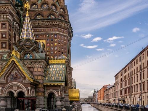 Uppståndelsekyrkan i St Petersburg i Ryssland.