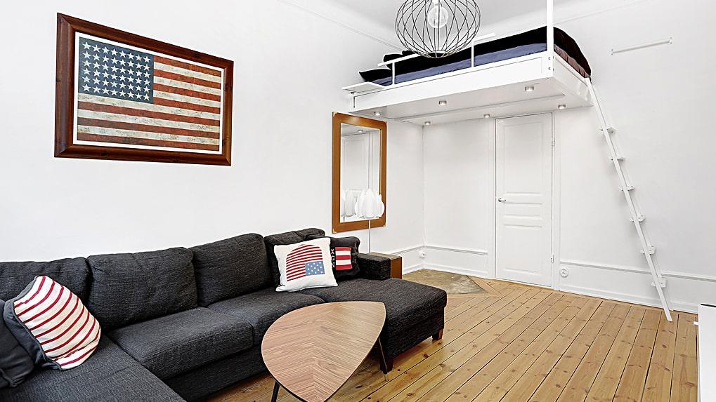Samir Badrans gamla lägenhet på Södermalm hade loftsäng.