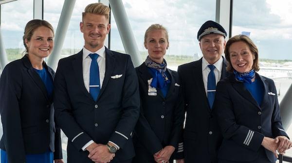 SAS nya uniform går i blått.