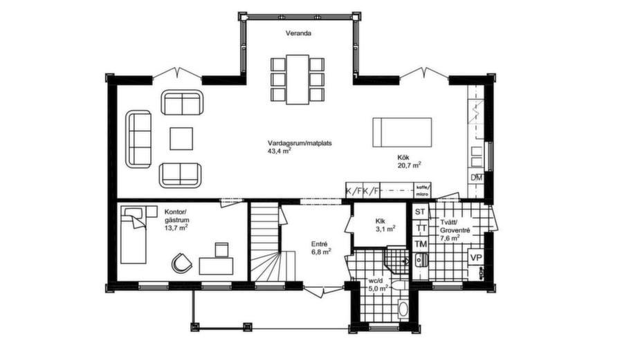 Fakta<br>Namn: Newport<br>Typ: 1,5-planshus med sex rum och kök på 171,1 kvadratmeter.<br>Pris: 2 517 000 kronor i Göteborgsregionen. 14 710 kronor kvadratmetern.<br>Husföretag: Mjöbäcks mjobacks.se