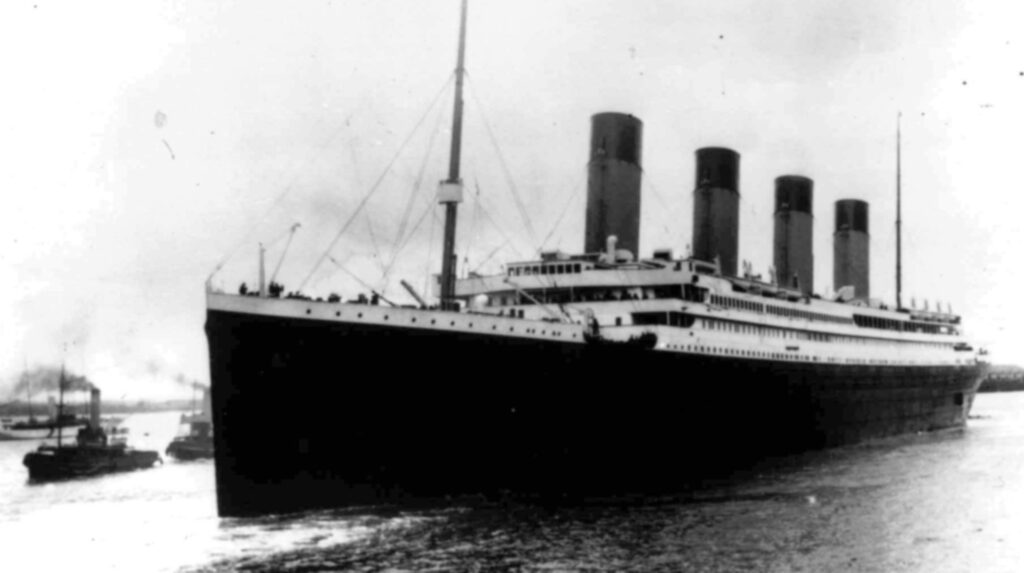 Lyxfartyget Titanic 1912.