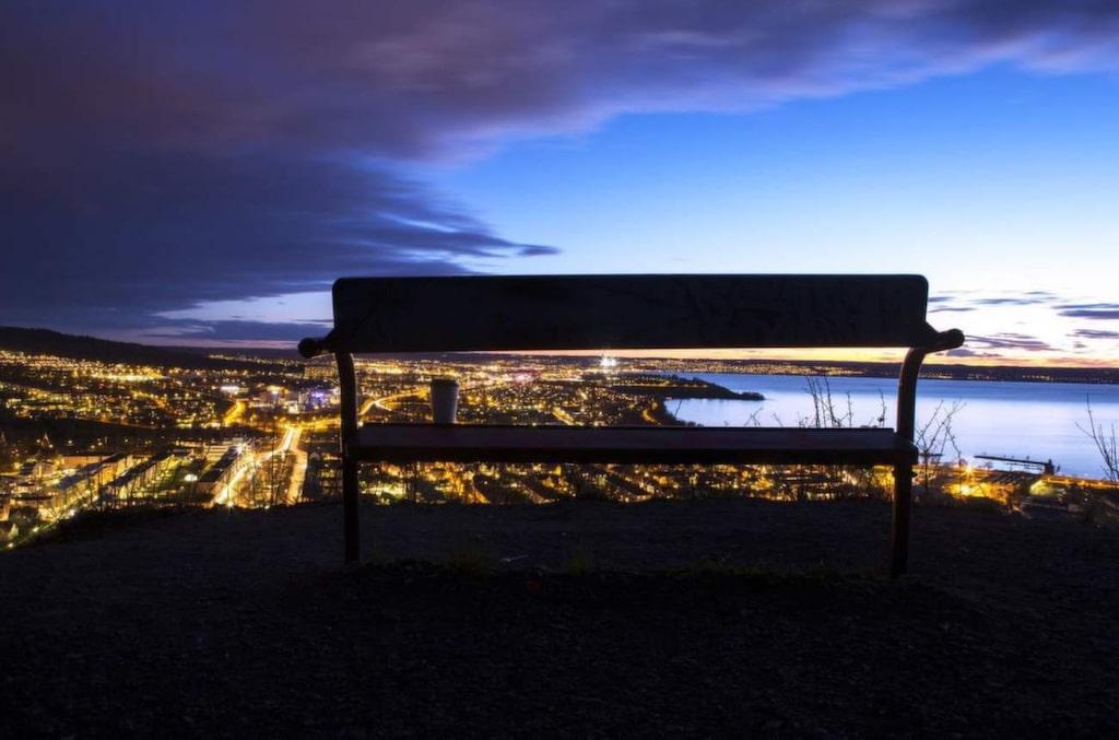 Romantisk utsikt i Huskvarna.