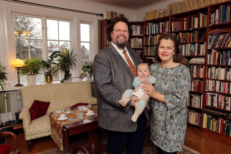 Edward och Gunilla med yngsta sonen Zacharias.