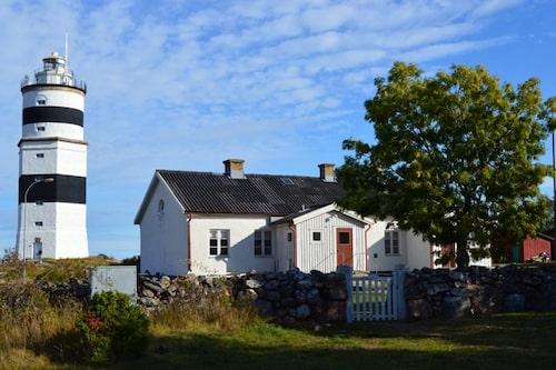 Där fyrvaktaren tidigare bodde är det nu vandrarhem på Örskär.