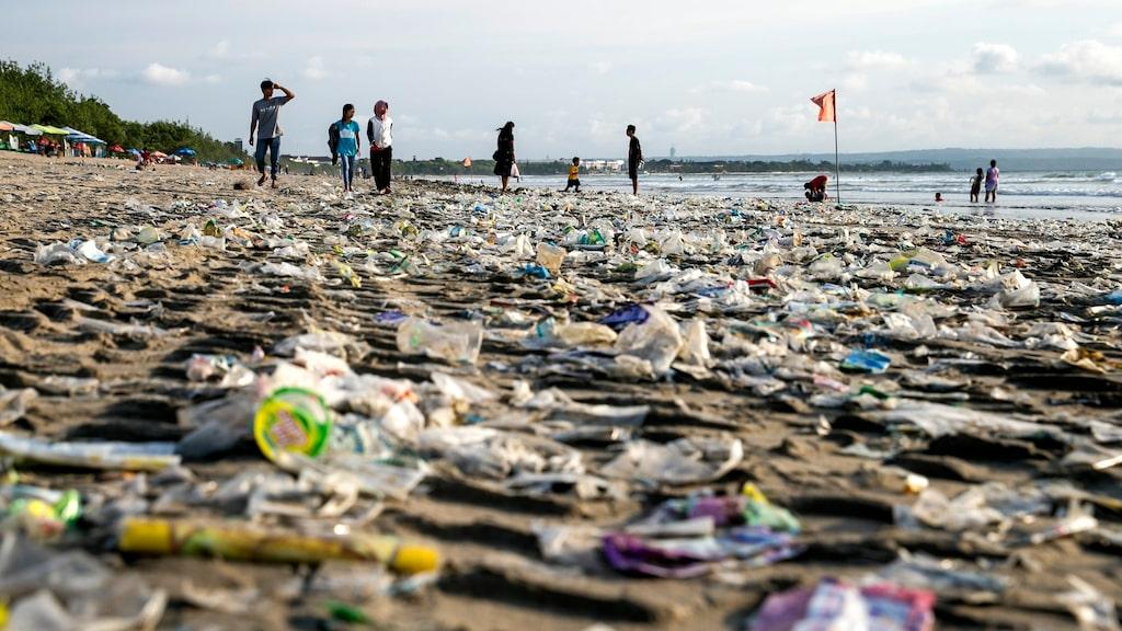 Kuta beach är Balis mest kända strand. Bilden är tagen den 15 december.