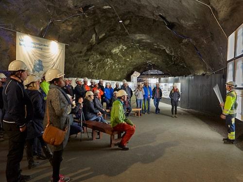 Åk ner i berget i Kiruna gruva.