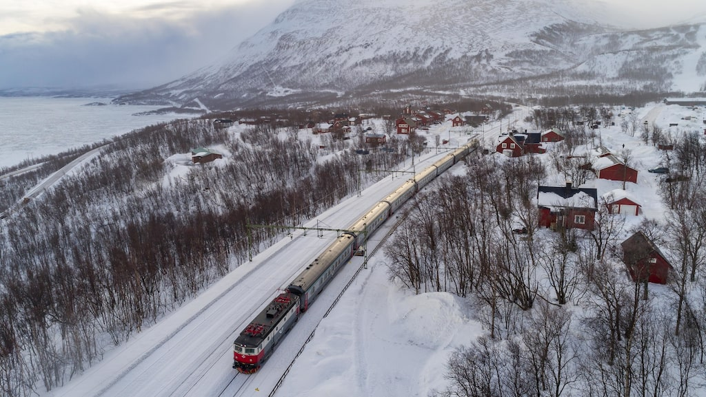 Arctic Circle Train från Kiruna till Narvik.