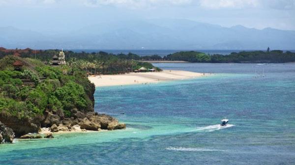 Nusa Duas vackra stränder.
