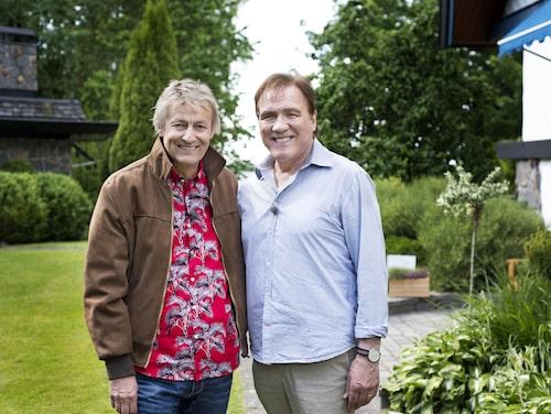 """Lars tillsammans med Christer Sjögren i tv-serien """"Vänligen Lars Lerin""""."""