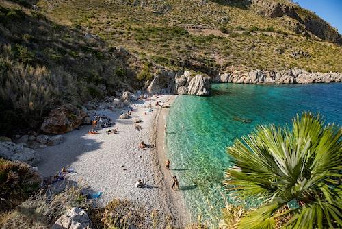 Norra stranden i naturrestervatet Zingaro.