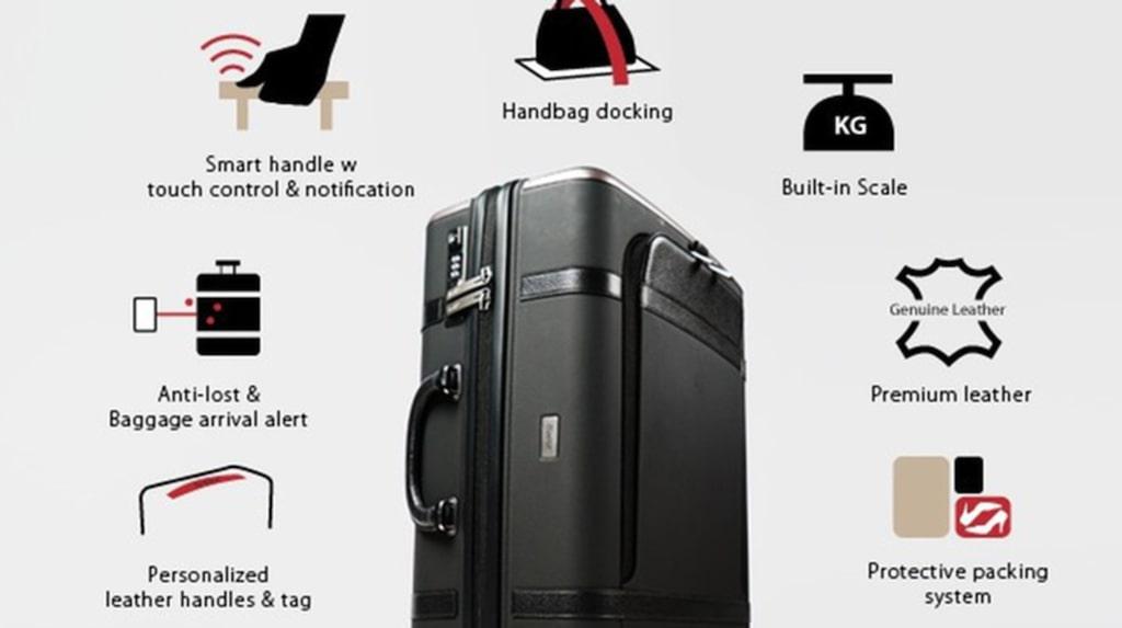 <p>Väskan har en hel rad smarta funktioner.</p>