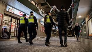 Jatteinsats av polisen i vastra stockholm