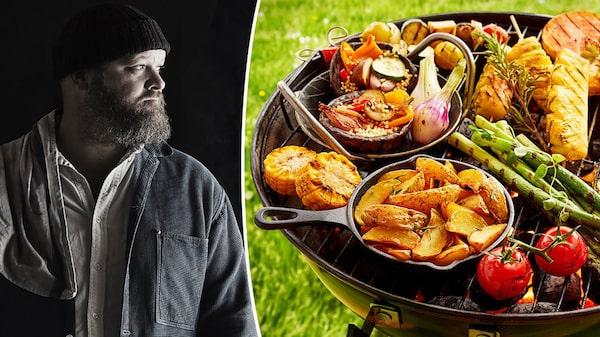 """Martin Nordin har släppt boken """"Eld Rök Grönt - vegetariska rätter från grillen"""""""