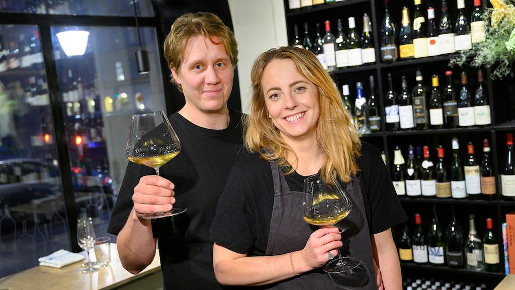 Erik Florén och Jessica (Gösen) Lindos är paret bakom E & G - Årets Vinbar 2019 enligt Allt om Vin.