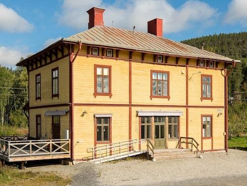 Stationshuset i Skorped byggdes 1888.