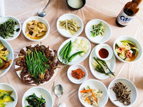Soju är en passande måltidsdryck.