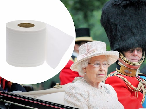 Den kungliga toarullen är givetvis med.