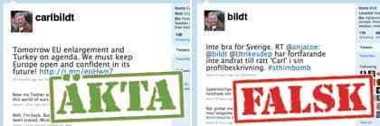 Bildts twitterkonto stangdes av