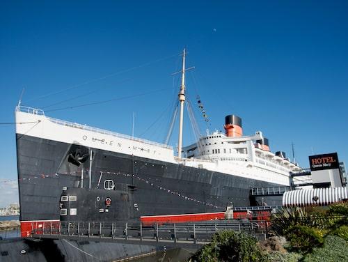 Queen Mary – en gång lyxfartyg, numera hotell i Long Beach.