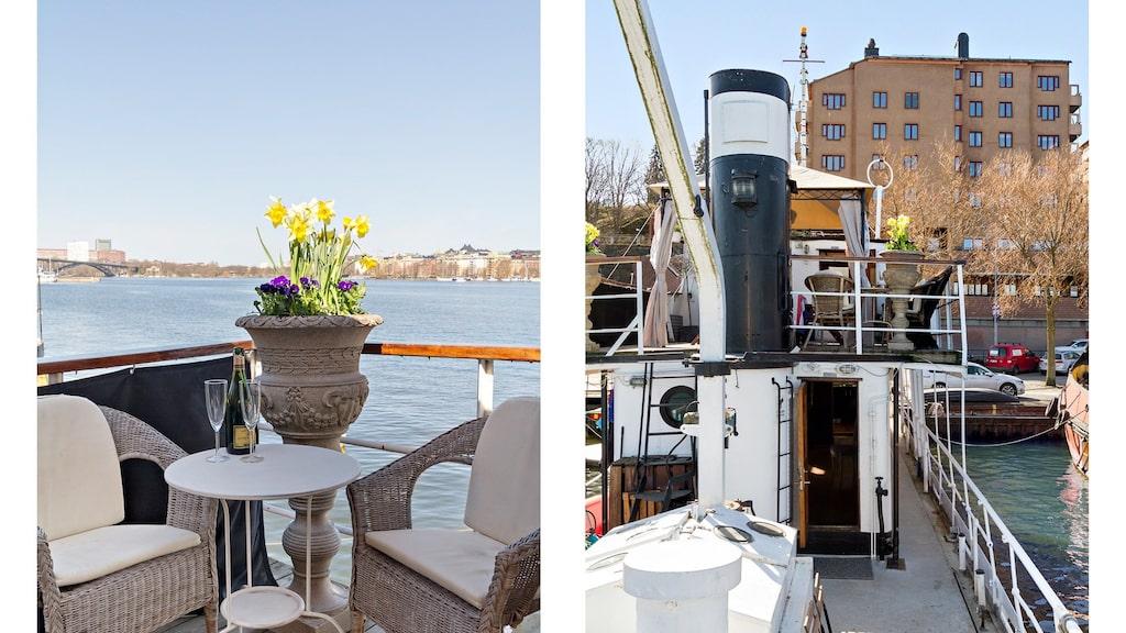 Vi förstår att intresset för den här husbåten mitt inne i Stockholm var stor...