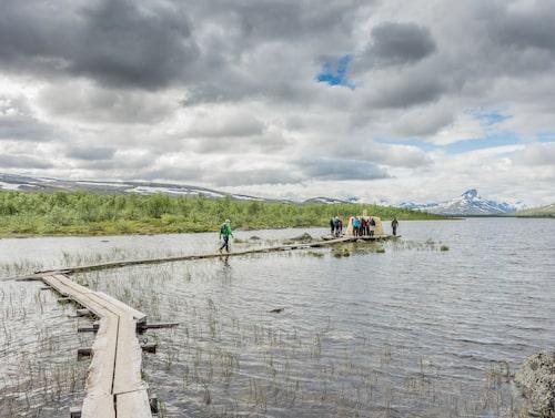 Treriksröset gränsar till Finland, Sverige och Norge.