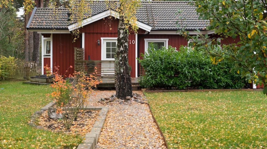 Stugan strax utanför Löddeköpinge.