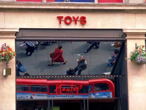 Leksaksaffären Hamleys Toy shop på Regent street.