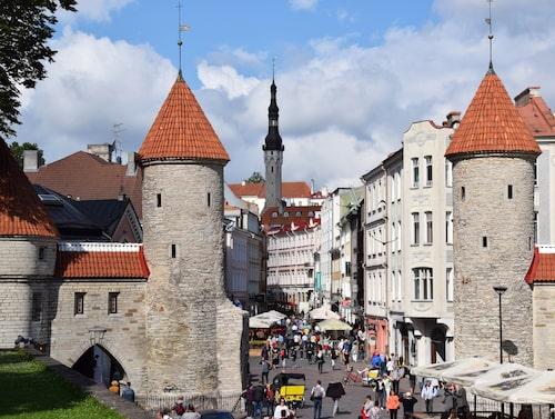 Tallin. En välbevarad medeltidsstad.