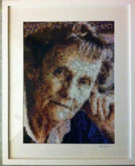 Här har hon pärlat av författaren Astrid Lindgren.