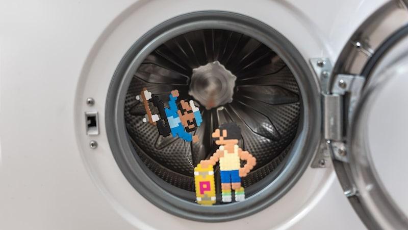 När Mario vill koppla av efter en lång dag med rörmokeri eller andra hjältedåd åker han gärna skateboard i tvättmaskinen.