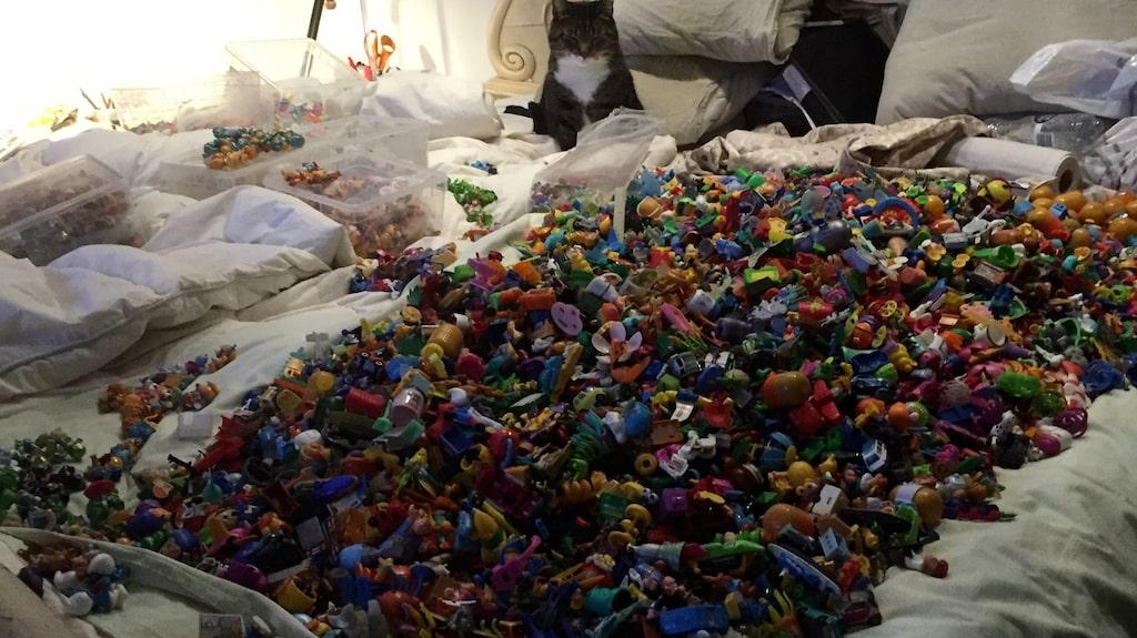 Mariannes imponerande kinderäggssamling i Hästensängen.