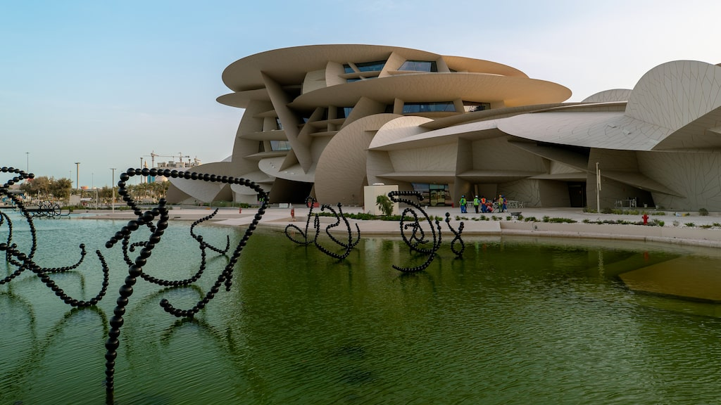 Nationalmuseet i Qatars huvudstad Doha har tagit tio år att bygga.