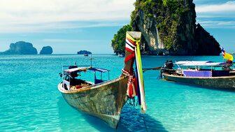 Även om Thailand är en av svenskarnas favoritdestinationer är resmålet också förknippad med fara. Dock inte på Krabi, som syns på bilden.