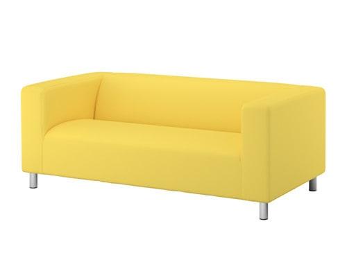 Klassiska Ikea-soffan Klippan som har funnits så länge vi kan minnas.