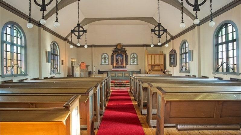Kapellet med altaret.