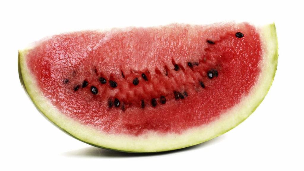 Vattenmelon är vatten i ätbar form.