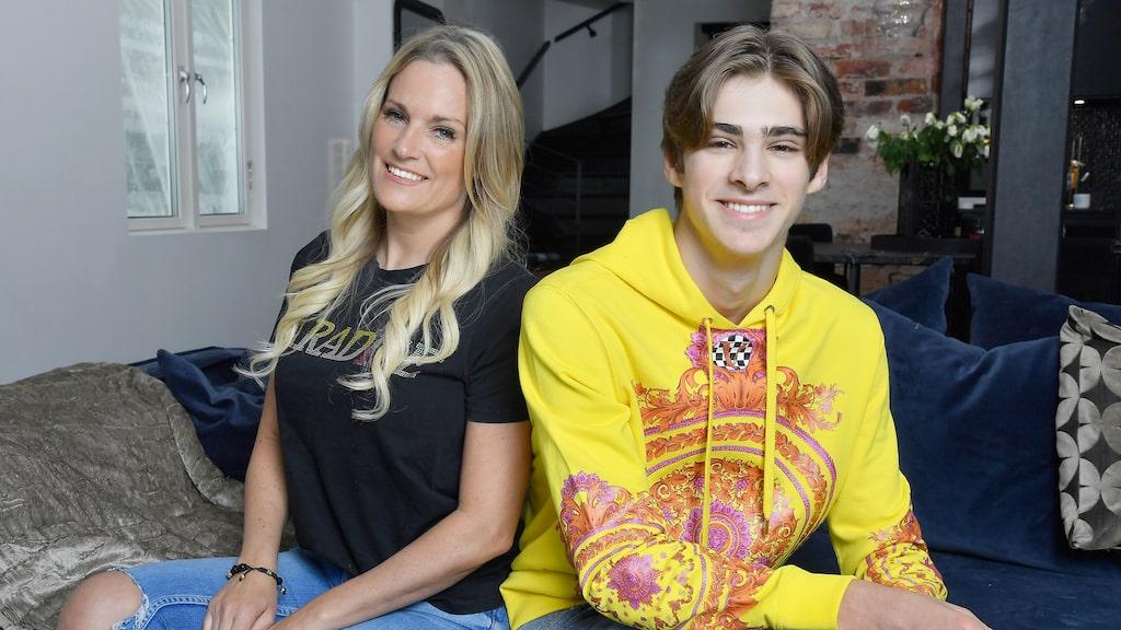 """Laila och sonen Liam syns nu i serien """"Lailaland"""" på Viafree. Attefallshuset de köpte ihop för några år sedan är Lailas bästa köp."""