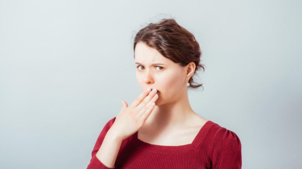 Dålig andedräkt måste inte bero på dålig munhygien.